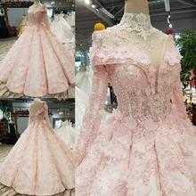 Розовое свадебное платье в пол без бретелек