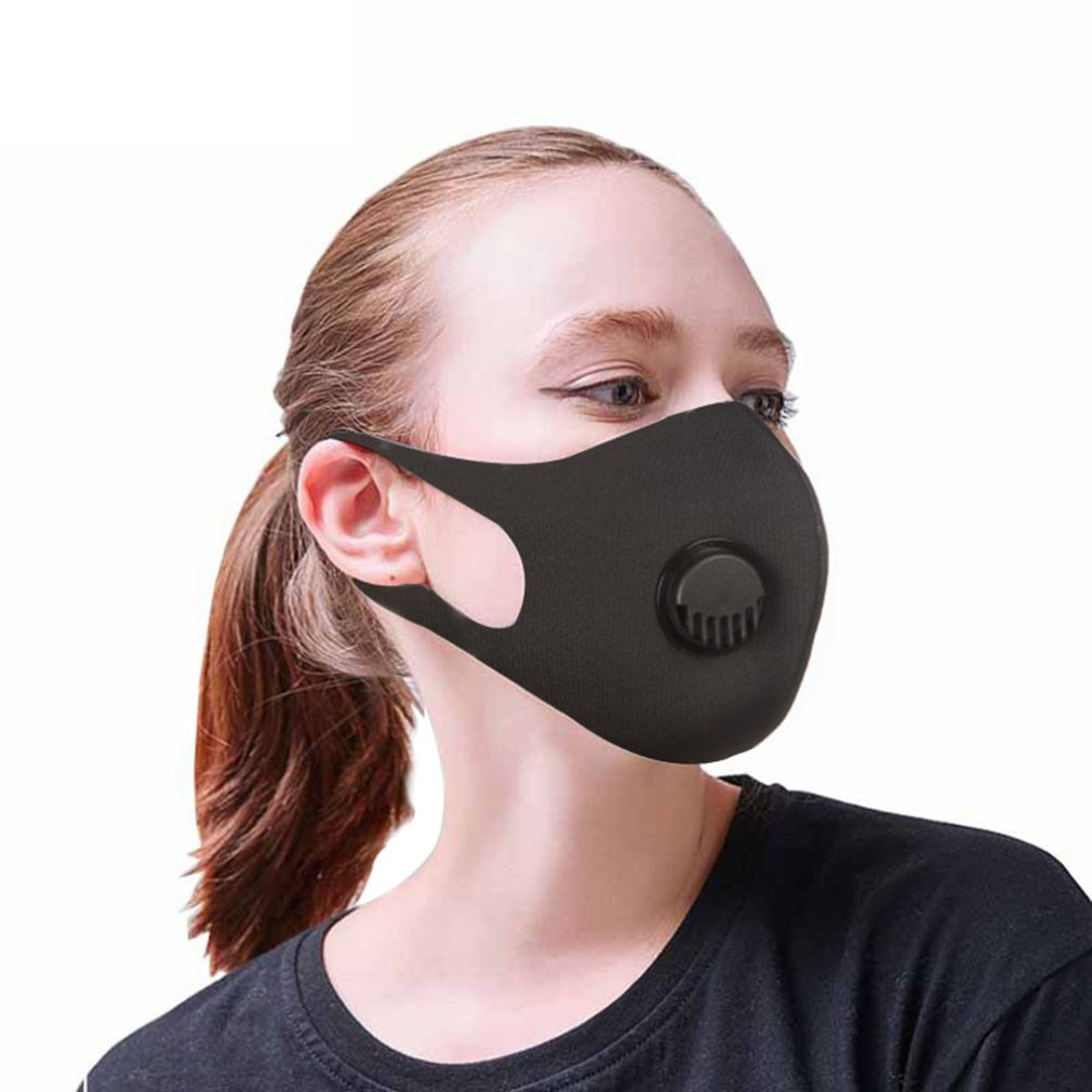 PM 2.5 Dust Mask Double Air Valve Anti Pollution Mask Dust Mask Anti-fog Activated Carbon Filter Flu-proof Mouth Mask Hot