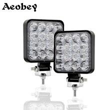 Aeobey Led Light Bar 4x4 48w 16barra Led Car Light For Led Bar Offroad SUV ATV Tractor Boat Trucks Excavator 12V 24V Work Light