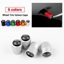 Car Styling 4PCS Wheel Tires Valve Cover Dust-proof Cap For KIA Sportage Rio Sorento Soul Picanto Optima Ceed Forte Cadenza K K5