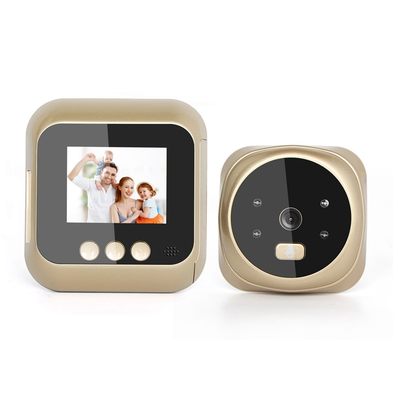 2.4-Inch High-Definition Screen Display Home Smart Video Doorbell Automatic Photo Recording Night Vision