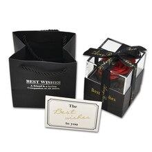 9 стилей вечные розы цветы с подарочной коробкой поздравительная открытка Forever Rose новогодние подарки для женщин Прямая поставка