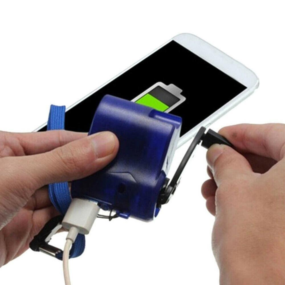 Outdoor Emergency Hand Crank Charger Camping Hiking Emergency Charger Usb Hand Crank Generator Portable