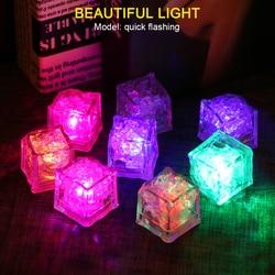 1/12pcs LED Ice Cubes Glowing Party Ball Flash Light Luminous Neon Wedding Festival Christmas Bar Wine Glass Decoration Supplies
