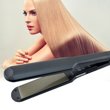2019 New Professional Hair Straightener wide plates Flat Iron Straightening Irons LED display