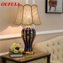Oufula Керамические настольные лампы светильники роскошная современная