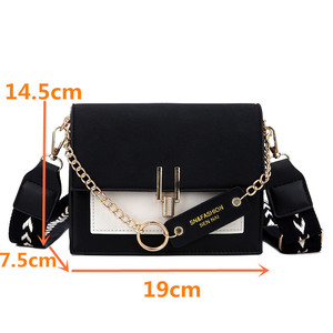 Image 3 - Women new mini handbags fashion ins ultra fire retro wide shoulder strap messenger bag purse simple style female Crossbody Bags