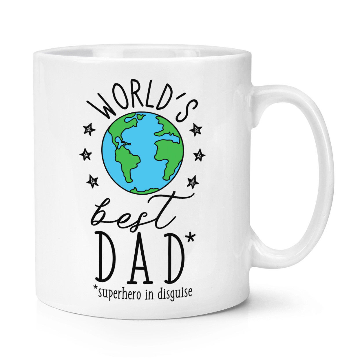 Best Dad Ever No.1 Travel Mug Cup With Handle Funny Father/'s Day Thermal Flask