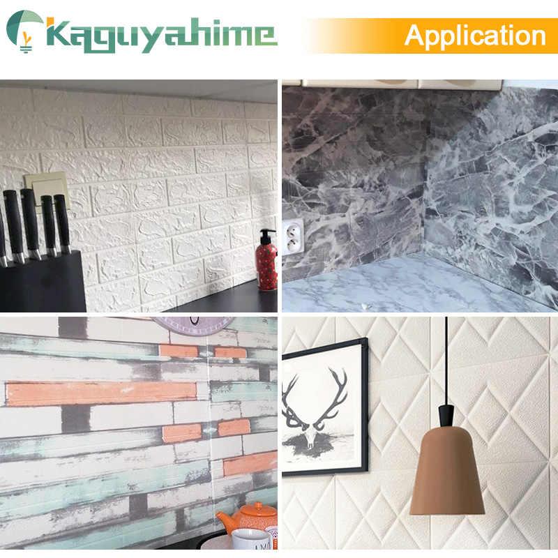 Kaguyahime 3D DIY Dán Tự Dán Trang Trí Dán Tường Cho Bé Phòng Bếp Phòng Ngủ Chống Nước Miếng Dán 3D Giấy Dán Tường Gạch