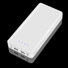 18650 opakowanie na Power Bank przenośny 5V DIY podwójny USB baterii powłoki 18650 obudowa baterii z LED światła typu C mobilne ładowanie przypadku
