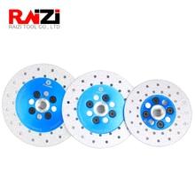 Raizi 100/115/125mm Best Diamond Cutting Grinding Disc Double Sided Vacuum Brazed M14 thread Stone Granite Shaping Wheel