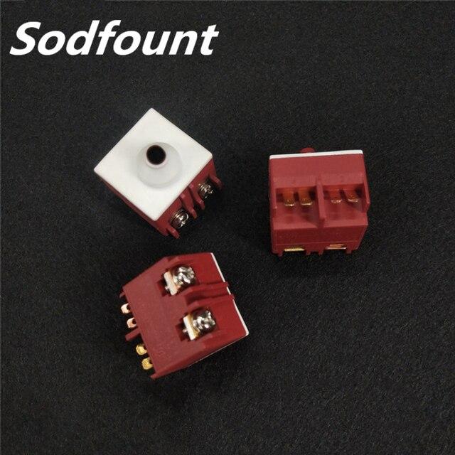 Winkel Grinder FA2 5/2W 250V 5A 125VAC/10A Momentary DPST KEIN Push Taste Schalter für Bosch GWS6/8 100 TWS6600 für INTERSKOL