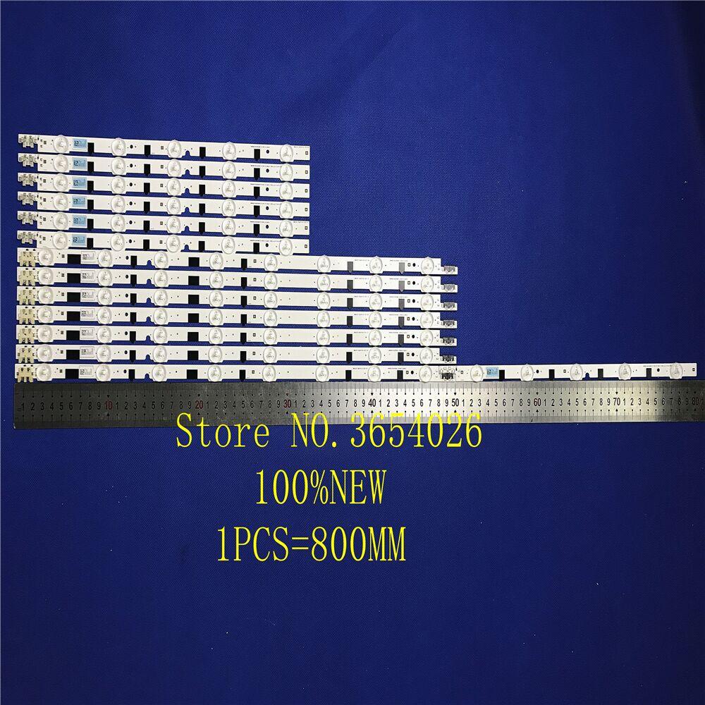2 unids/lote UA39F5088AR UA39F5008AR tira de luz LED para SAMSUNG 2013SVS39F L 8 R 5 REV1.9 130212 D2GE-390SCA-R3 D2GE-390SCB-R3 Tira de LED para iluminación trasera para Samsung 39