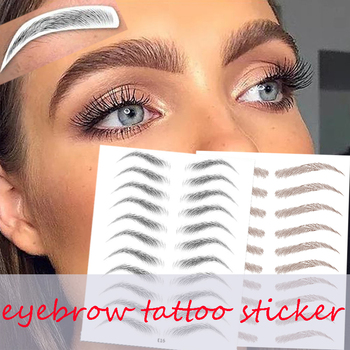 Water-based Hair-liked Authentic Eyebrow Tattoo Sticker Waterproof Cosmetics Long Lasting Makeup False Eyebrows Stickers