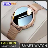 Reloj inteligente de las mujeres E1-0 IP68 impermeable completamente táctil pantalla Bluetooth Multi-modo deportes localizador Smartwatch Fitness para Android IOS