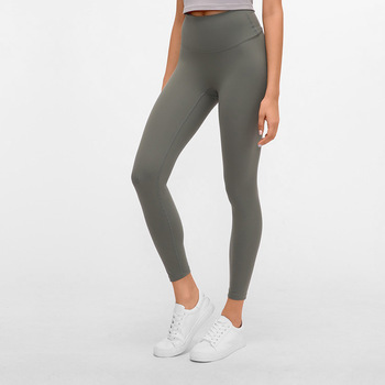 New double-sided grinding nude seamless yoga lift hip high waist running exercise fitness nine-point pants christmas leggings