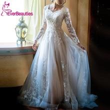 Robe De Mariee Long Sleeves Wedding Dresses 2019 Tulle Lace Party Luxury Vestido Noiva Bridal Gown