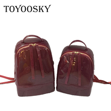 TOYOOSKY 2019 New Fashion Women Cute Silicone Backpack Female Travel Bags Girl School Candy Bag Lady Waterproof jelly Bag 2016 new arrival women backpack more big size mouse backpack fashion jelly bag cartoon school bags bow teenager girl bag xa1234b