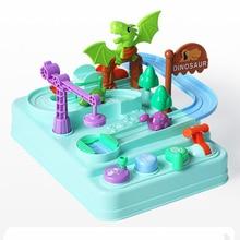 Игрушечный динозавр с животным треком мультяшная Модель 3D автомобиль Развивающие игрушечные транспортные средства для ребенка подарок на день рождения