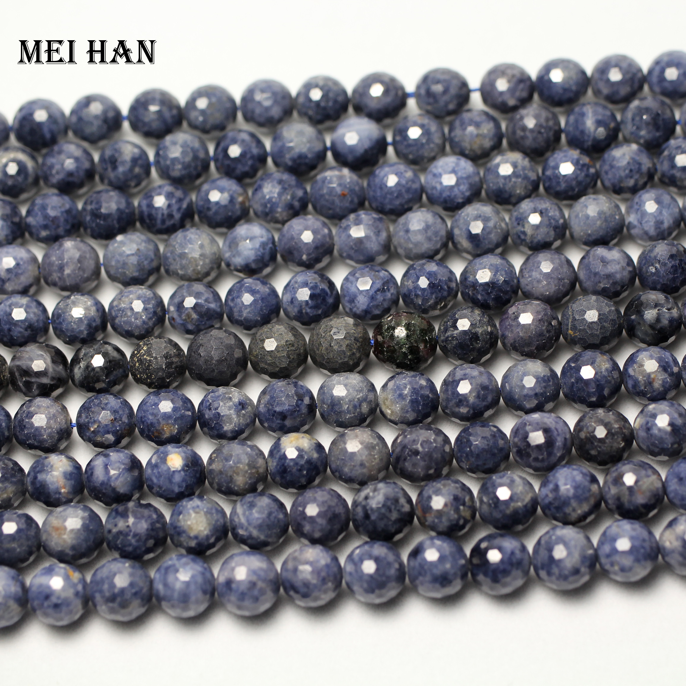Image 3 - Natural blue sapphiree (42 beads/set) 9mm  0.2 faceted round  loose beads for jewelry making design fashion stone diy braceletloose  beadsbeads for jewelry makingbeads for jewelry