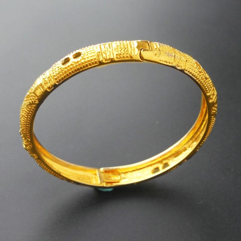 60 мм геометрический 24 К золотой браслет круги браслеты fow wo для мужчин Высокое