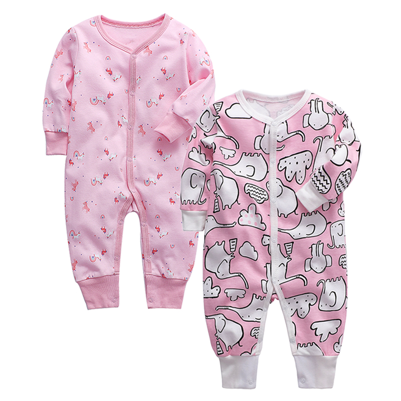 Baby Girls Clohing Newborn Jumpsuit Infant Pajama 3 6 9 12 18 24 Months Toddler Kids Boys Clothes