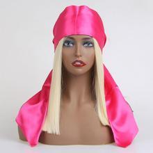 Повязка на голову для парика, атласный шарф для наращивания волос, повязка на голову для женщин, человеческие волосы, повязка на голову