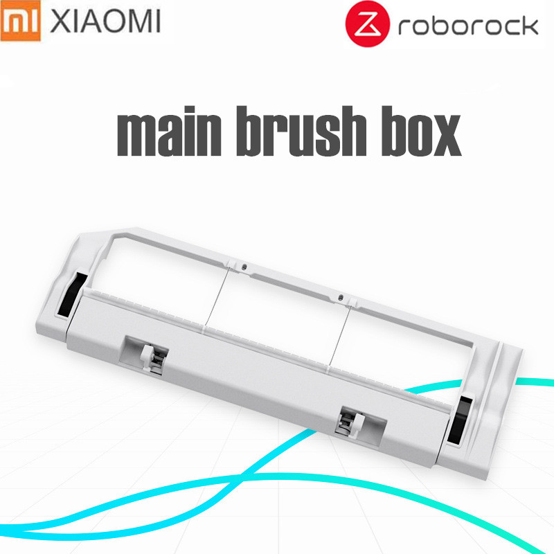 XIAOMI MI Robot ROBOROCK MIJIA Vacuum Part Xiaomi Robotic Vacuum Cleaner Rolling Brush Cover Main Brush Box Replacements