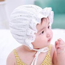 Шляпа для фотографирования новорожденных девочек Лолита кружевные