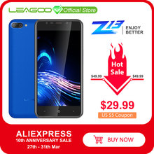 "LEAGOO Z13 cep telefonu 5.0 ""IPS ekran 1GB RAM 8GB ROM çift arka kamera çift SIM 2000mAh Android dört çekirdekli 3G akıllı telefon"