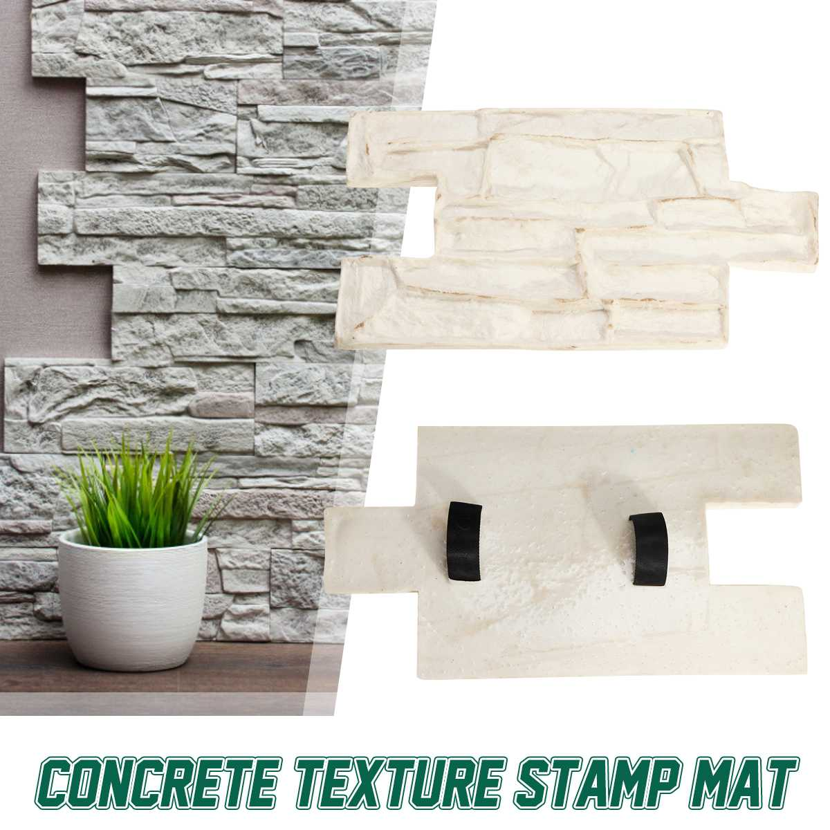 New Stamps Model Polyurethane Molds For Concrete Cement Plaster Rubber Molds Garden House Decor Texture Wall And Floors
