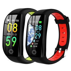 Image 3 - Pulseira inteligente bluetooth relógio de fitness rastreador sono freqüência cardíaca monitoramento de pressão arterial lembrete informações inteligente pulseira