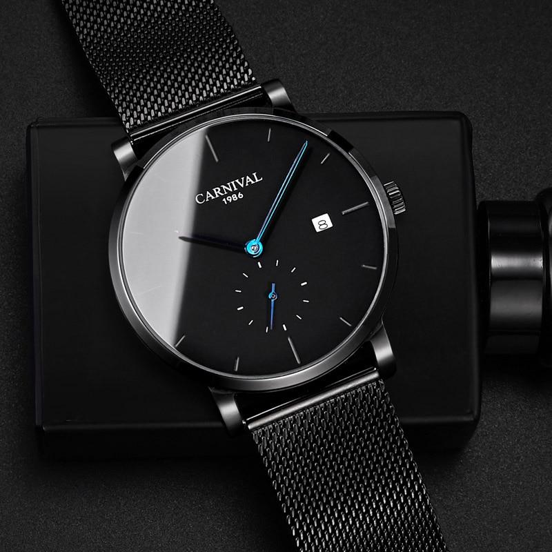 KARNEVAL Mode Herren Uhren Top Brand Luxus Multifunktions Automatische Uhr Männer Kalender Wasserdicht Leucht Mechanische Uhren - 3