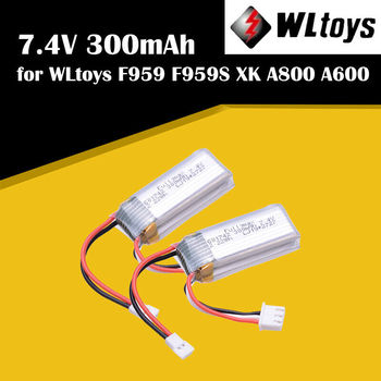 2pcs WLtoys RC Airplane Battery 7.4V 300mAh Battery for F959 Aircraft XK A800