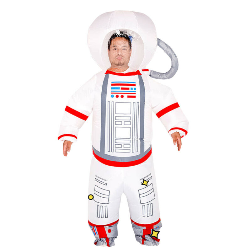 Brand New Creative Cospaly Astronaut Space Inflatable Suit Dust-Proof Protection Clothing Safety Reusable Protect Yourself