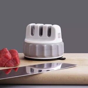 Image 4 - Huohou mini apontador de faca de uma mão afiar super sucção cozinha ferramenta apontador