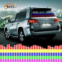 Luz LED de 90x25cm para coche, 45x11cm, RGB, con Sensor de activación por sonido, ecualizador, pegatina para parabrisas trasero, lámpara de neón con estilo