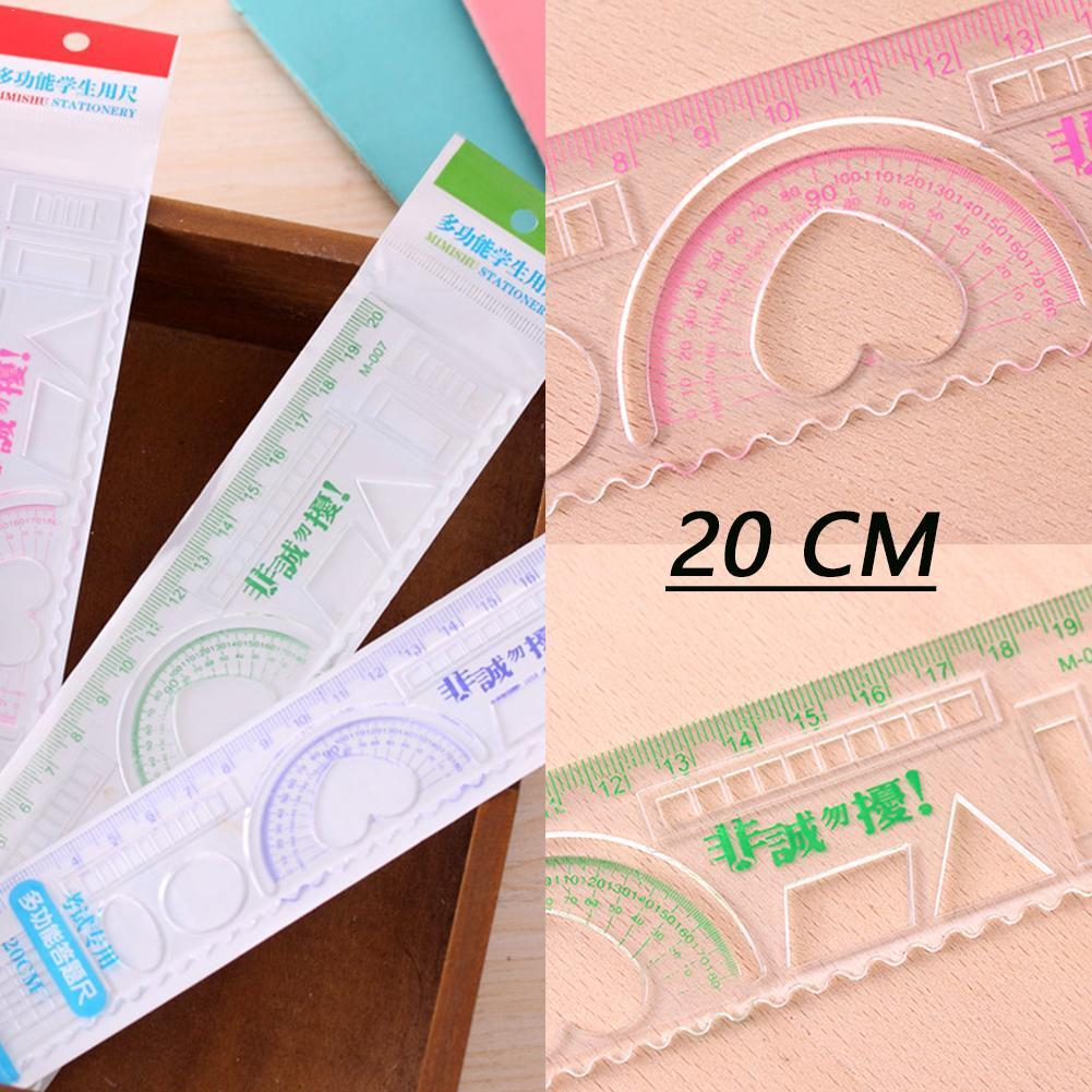 5Pcs DIY Cute Kawaii Candy Color Plastic Ruler For Kids Drawing Template Straight Supplies Painting Rule School Z0O0