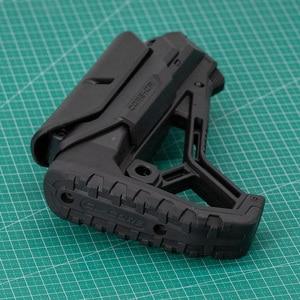 Image 2 - Stock táctico de Nylon extendido ajustable para pistolas de aire CS Paintball deportivo Airsoft BD556 M4 JinMing Gel, caja de engranajes receptor de bláster