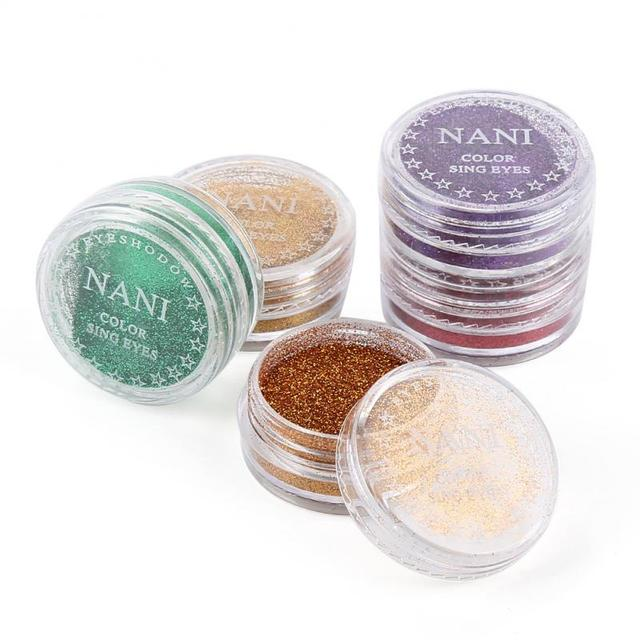 NANI 24 Colors Eye Shadow Monochrome Eye Shadow Powder Glitter + Eye Prime Shimmer Diamond Face Body Shiny Skin Pearl Powder 2