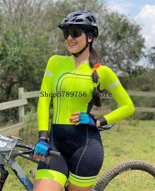 2020 ciclismo skinsuit pro macacão roupas femininas manga longa macacão triathlon bodysuit meninas bicicleta macaco feminino ciclismo terno 4