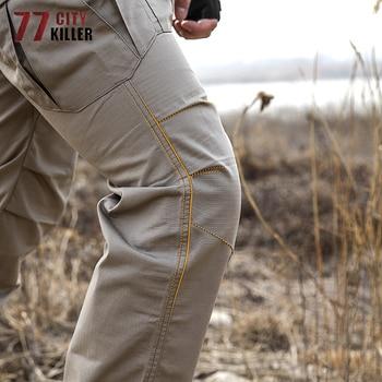 77City Killer Tactical Pants Men Waterproof Combat Joggers Male Multi pocket SWAT Cargo Stretch Work