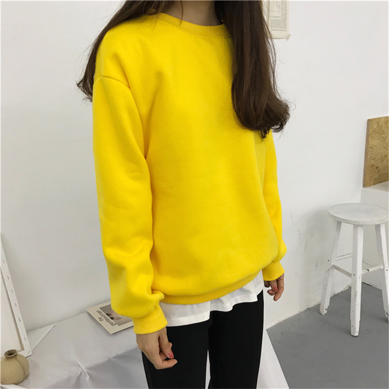 Hfa921843d1654f83905b4b322ef97b6dN - Autumn winter Harajuku Solid Sweatshirt Women Long Sleeve Hoodie Loose Women Hoodies Sweatshirts Casual Tracksuit