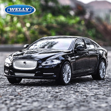 welly 1:24   2010 Jaguar XJ  alloy car model simulation car decoration collection gift toy Die casting model boy toy все цены