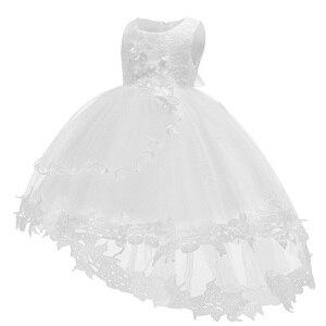 Verão bebê baptismo vestidos brancos para o bebê meninas rendas vestido de princesa 1st ano vestido de aniversário infantil vestido de festa roupas recém-nascidos