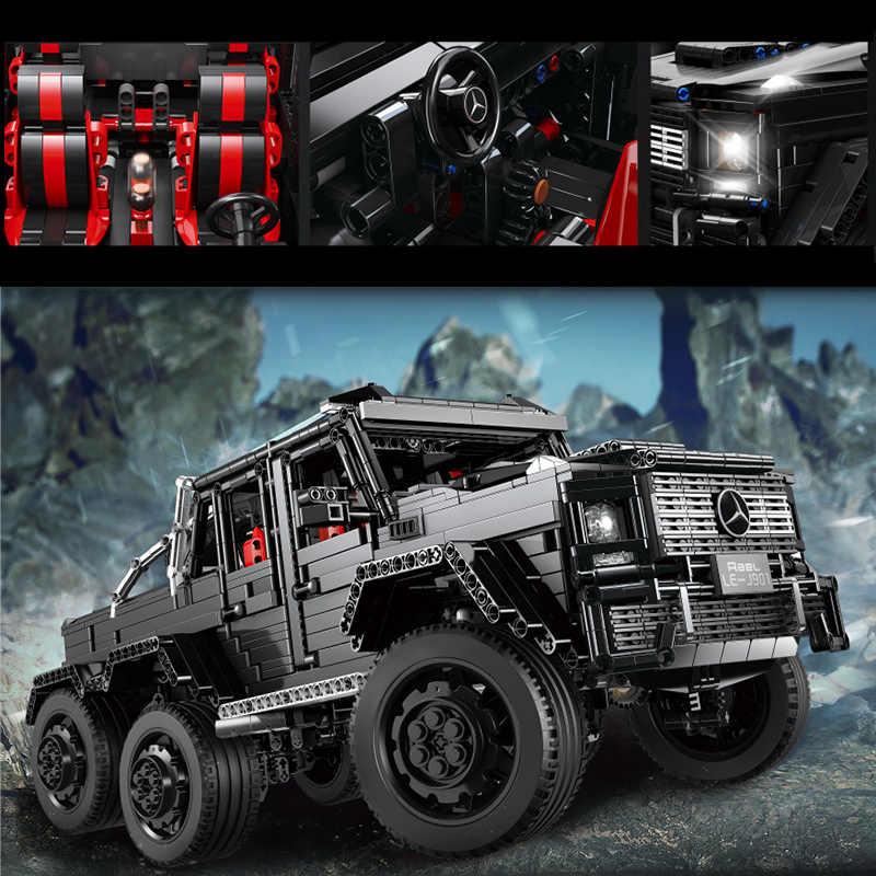 3300pcs Benz Off-road 6x6 LAND CRUISER Technic Città Creatore SUV Veicolo di Costruzione Giocattoli dei Mattoni del Blocchetto regali Per I Bambini Bambini