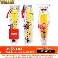2021 WMARK nuovo modello NG-108 tagliatrice di capelli ricaricabile tagliacapelli Trimmer trasparente coperchio bianco o rosso Base 7300 giri/min