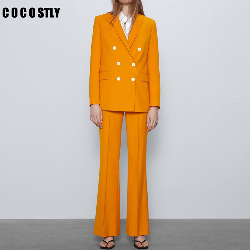 Work Fashion Pant Suits 2 Piece Set For Women Blazer Jacket & Trouser Office Lady Slim Casual Fashion Suit Women 2020