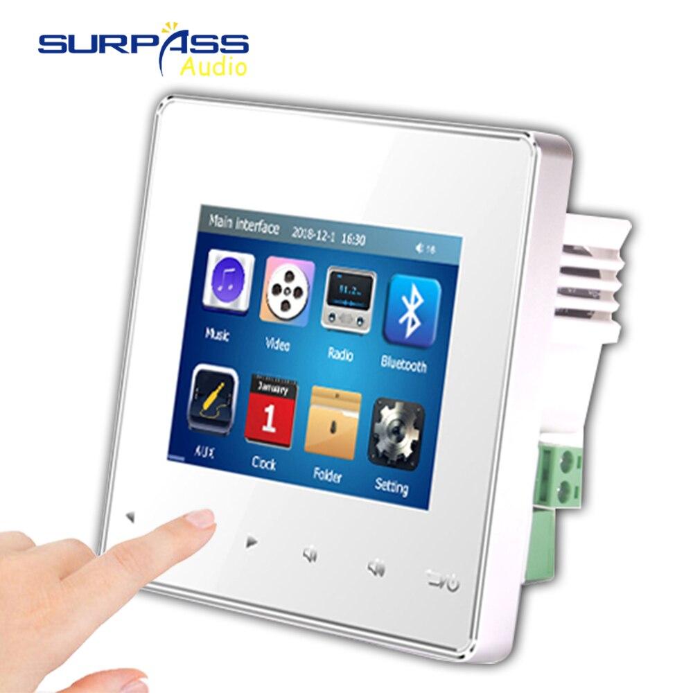 Maison intelligente pro Audio fond HiFi musique Mini mur amplificateur système TV touche tactile numérique stéréo musique bluetooth lecteur RS485