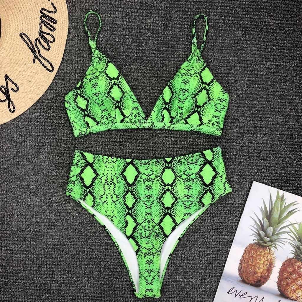 Sexy Serpent Unique maillot de bain siamese Imprimer Rembourré Soutien-Gorge Push-Up Bikini Ensemble De Plage D'été Swimmiing maillots de Bain Maillots de Bain mayo bayan